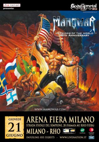 A MANOWAR lesz a főzenekar a Gods Of Metal fesztiválon, Milánóban, 2012. június 21-én