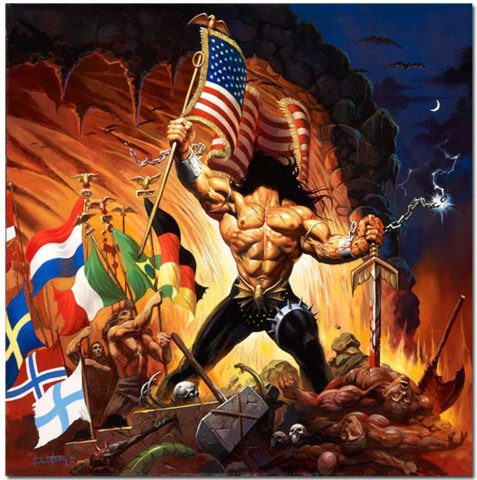 Manowar Giclee Print Warriors Of The World - Ken Kelly