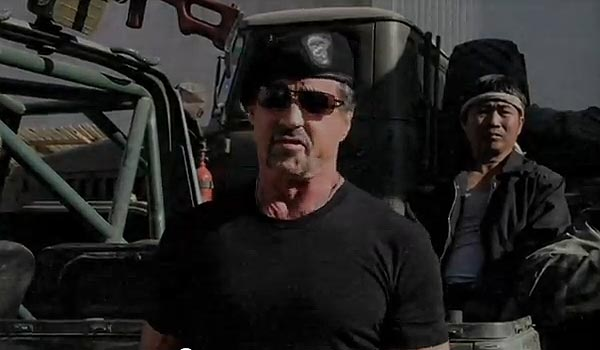 The Expendables 2 – Sylvester Stallone (forgatás)