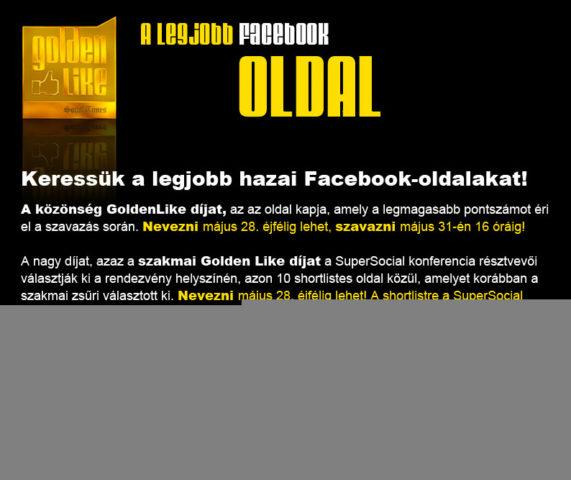 Golden Like 2012 – A legjobb Facebook oldal