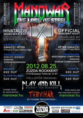 Hivatalos MANOWAR Party Budapest, 2012.08.25.