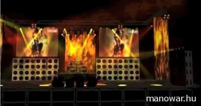 MANOWAR – The Lord Of Steel 2012-es turné színpadi látványterve (videó)