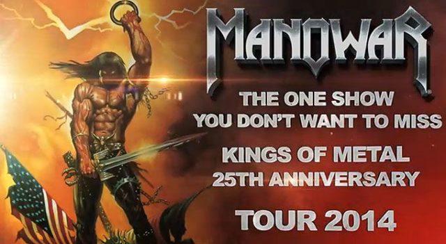 """A MANOWAR bejelentette a """"Kings Of Metal MMXIV"""" világ körüli turné következő dátumát"""