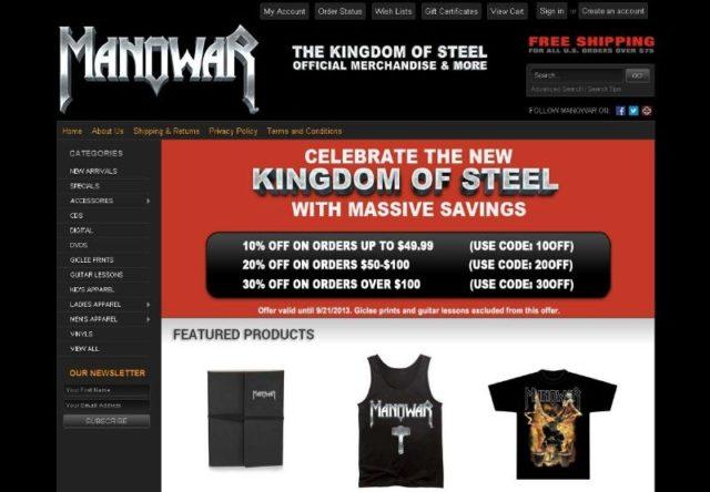 A The Kingdom Of Steel – MANOWAR hivatalos webáruháza megújult!
