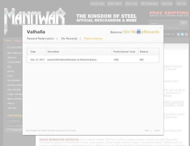 Speciális jutalmak  a The Kingdom Of Steel-től