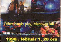 Manowar, Hell on Stage Tour 1998 koncertjegy
